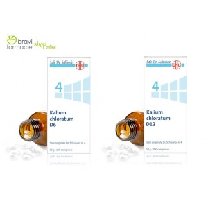 4 KALIUM CHLORATUM D6 | Clorato di Potassio 200 Cpr | SCHWABE - Sali Dr.Schussler