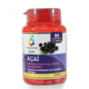 ACAI 60 cpr | Integratore Metabolismo | OPTIMA NATURALS Colours of Life