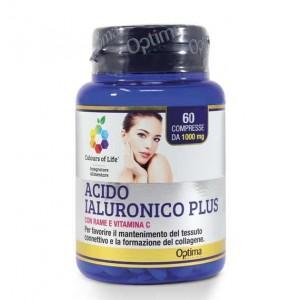 ACIDO IALURONICO PLUS 60 Compresse   Integratore Pelle   OPTIMA NATURALS Colours of Life