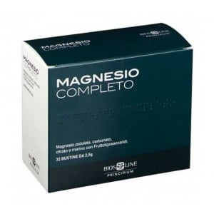MAGNESIO COMPLETO 32 bustine da  2,5 g | Integratore Stanchezza, Umore, Muscoli  | BIOS LINE - Principium