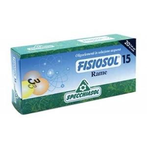 15 RAME | Antinfiammatorio Antisettico 20 Fiale | SPECCHIASOL - Fisiosol