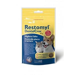 RESTOMYL DENTALCROC 60 g | Crocchette per igiene orale CANE e GATTO | INNOVET - Odontostomatologia