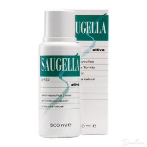 Soluzione Attiva 500 ml   Detergente intimo antibatterico   SAUGELLA Verde