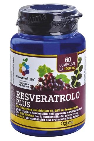 RESVERATROLO PLUS 60 cpr   OPTIMA NATURALS - Colours of Life