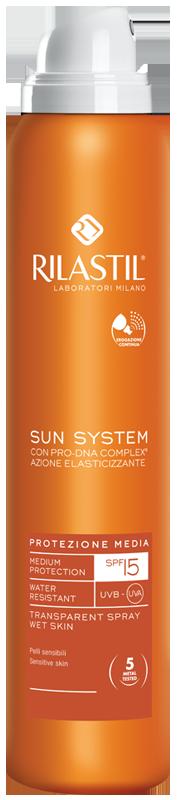 SPRAY TRASPARENTE SPF 15 200 ml | RILASTIL - Sun System