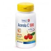 ACEROLA C 500 30 Tavolette Masticabili | Integratore di Vitamina C con Bioflavonoidi | LONGLIFE
