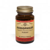 Acidophilus 50 cps vegetali | Probiotici senza lattoderivati | SOLGAR