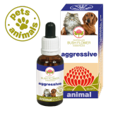 AGGRESSIVE Gocce 30 ml | Fiori Australiani per Gelosia e Aggressività | AUSTRALIAN BUSH FLOWER Essences - Animal