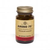 AMINO 75 30 capsule vegetali| Integratore di aminoacidi in forma libera | SOLGAR