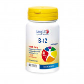 B 12 1000 mcg 60 tav sublinguali | Integratore di cianocobalamina | LONGLIFE