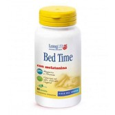 BED TIME 60 Tavolette | Integratore con melatonina per sonno | LONGLIFE