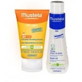 BIPACK Latte solare 50+ con omaggio detergente | MUSTELA - Solari