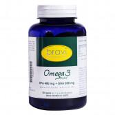 OMEGA 3 120 Perle da 1 g | Integratore di Acidi Grassi EPA:DHA 2:1 | BRAVI