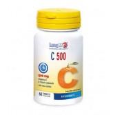 C 500 T/R 60 tav | Integratore di Vitamina C con Rosa Canina | LONGLIFE