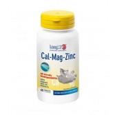 CAL/MG/ZN 60 tavolette | Integratore con Calcio, Magnesio, Zinco e Vitamina D | LONGLIFE
