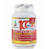CENTOPERCENTO 30 Compresse | Integratore 13 Vitamine + 8 Minerali | OPTIMA NATURALS Colours of Life