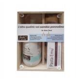 CAMBIO PANNOLINO Cofanetto in legno Intimo Me + Pasta Emu | FIOCCHI DI RISO
