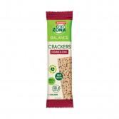 CRACKERS 40-30-30 SESAMO E SEMI DI CHIA | Snack salato bilanciato 5 crackers | ENERZONA