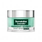 Crema Detox Notte 50 ml | Crema notte rigenerante | SOMATOLINE COSMETIC Prevent Effect