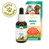 DETOX PETS Gocce 30 ml | Fiori Australiani per Stress e Alterazioni alimentari | AUSTRALIAN BUSH FLOWER Essences - Animal