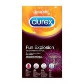 FUN EXPLOSION | 18 Profilattici colorati e aromatizzati | DUREX Online