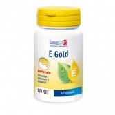 E Gold 120 perle | Integratore di vitamina E (Alfa Tocoferolo) | LONGLIFE