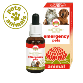 EMERGENCY PETS Gocce 30 ml | Fiori Australiani per Trauma e Paura intensa | AUSTRALIAN BUSH FLOWER Essences - Animal