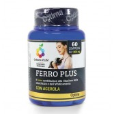FERRO PLUS ACEROLA 60 compresse|Integratore di Ferro e vitamina C| OPTIMA NATURALS - Colours Life