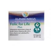 FOLIC FOR LIFE 30 Capsuel | Integratore di Acido Folico Metilato | ALFABIOMEGA
