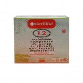 COMPRESSE DI GARZA IDROFILA DI COTONE | Singole sterili cm 18x40 12 pezzi | STERILINA