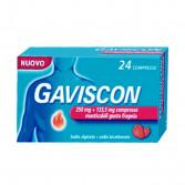 GAVISCON 250 mg + 133,5 mg | 24 Compresse Masticabili Fragola