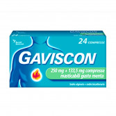 GAVISCON 250 mg + 133,5 mg | 24 Compresse Masticabili Menta