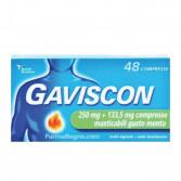GAVISCON 250 mg + 133,5 mg | 48 Compresse Masticabili Menta