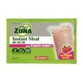 INSTANT MEAL 40-30-30 FRAGOLA E YOGURT | Istantaneo gusto Fragola e Yogurt 1 busta | ENERZONA
