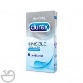 INVISIBLE | 6 Profilattici Ultra Sottili | DUREX