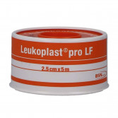 LEUKOPLAST PRO LF 2,5 cm x 5 m | Cerotto a rocchetto in tela bianca | LEUKOMED