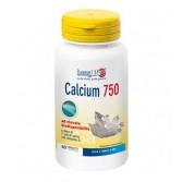 CALCIUM 750 mg | Integratore di Calcio 60 tavolette | LONGLIFE