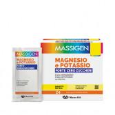 Magnesio e Potassio Forte Zero zuccheri 24 Buste | Integratore per lo sport | MASSIGEN