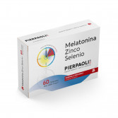 MELATONINA ZINCO SELENIO 60 Compresse | Integratore Formula Originale 1 Mg | PIERPAOLI