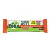 NUTRITION BAR 40-30-30 CIOCCOLATO E SCORZE D'ARANCIA | Barretta 2 Blocchi Cioccolato fondente e scorze d'arancia 50 g | ENERZONA