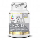 Zinco 15 120 compresse | Integratore sistema immunitario | OPTIMA NATURALS