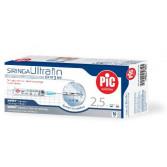 Siringa Ultrafin 2,5 ml  10 siringhe sterili con ago indolore ultrafine   PIC Indolor