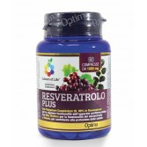 RESVERATROLO PLUS 60 cpr | Integratore Antiossidante | OPTIMA NATURALS Colours of Life