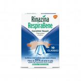 RINAZINA RespiraBene | 10 Cerottini nasali Classici
