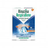 RINAZINA RespiraBene | 10 Cerottini nasali Classici Grandi