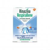RINAZINA RespiraBene | 10 Cerottini nasali Trasparenti per pelli sensibili