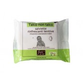 SALVIETTE TALCO NON TALCO Rinfrescanti e lenitive 20 pezzi | FIOCCHI DI RISO