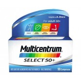 Multicentrum Select 50+ 90 cpr | Integratore di vitamine e minerali per adulti | MULTICENTRUM