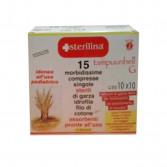 COMPRESSE DI GARZA IDROFILA DI COTONE | 15 Buste singole sterili 10x10 | STERILINA