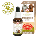 TRANSITION PETS Gocce 30 ml | Fiori Australiani per Paura dei Cambiamenti | AUSTRALIAN BUSH FLOWER Essences - Animal